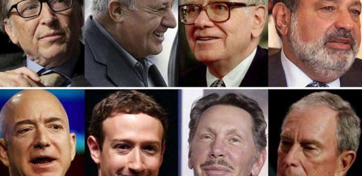 Concentran ocho hombres la riqueza de medio mundo