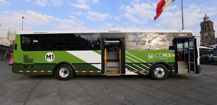 Nuevos buses de Sistema M1 reforzarán movilidad en CDMX