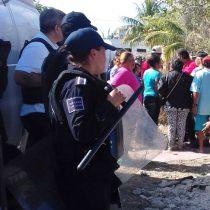 500 familias en Quintana Roo les quitan sus casas; Policía Estatal y Municipal reprimen