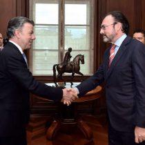 Realiza el Canciller Videgaray Caso visita de trabajo a Colombia