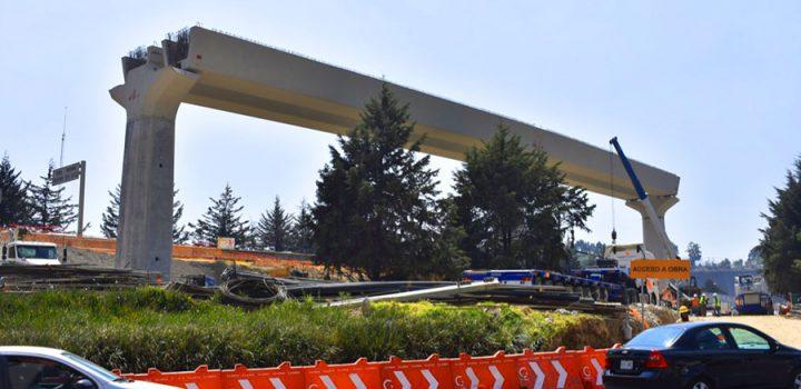Avanza construcción y montaje de prefabricados para tramo III del Tren Interurbano México-Toluca