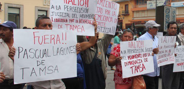Obreros exigen, a Gobierno Federal, respeto a la libertad sindical en TAMSA.