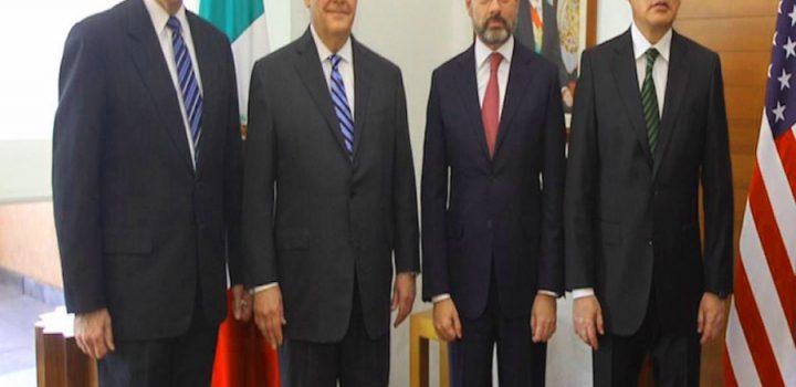 Revisan México y Estados Unidos acciones de combate al crimen