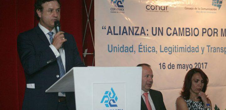Exhorta COPARMEX CDMX a ALDF a crear un sistema local anticorrupción ejemplar y sin cuotas partidistas