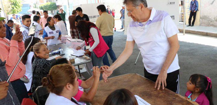 Antorcha vota pacíficamente: líder social Jesús Tolentino Román