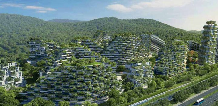 China construye la primera 'Ciudad Bosque' del mundo