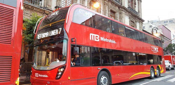 Llegan a la CDMX los primeros seis autobuses de Línea 7