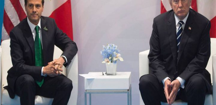 Trump reitera ante Peña Nieto que debe pagar el muro fronterizo