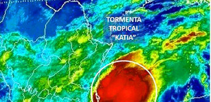 """""""Katia"""" se forma en costas de Veracruz y Tamaulipas"""