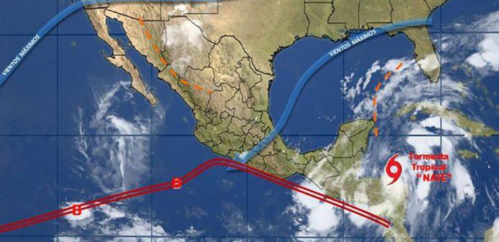 Afectará Nate Yucatán y Quintana Roo