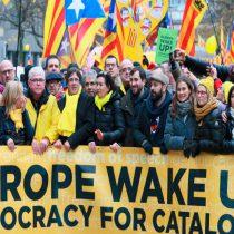 """Los separatistas presentan su causa en Bruselas como una lucha contra los """"franquistas"""""""