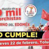 Marcharán 70 mil mexiquenses en Toluca; denunciarán falta de apoyo de gobierno estatal