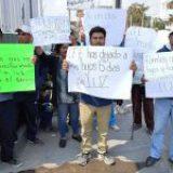 Ejidatarios se manifiestan por abusos de CFE en Texcoco