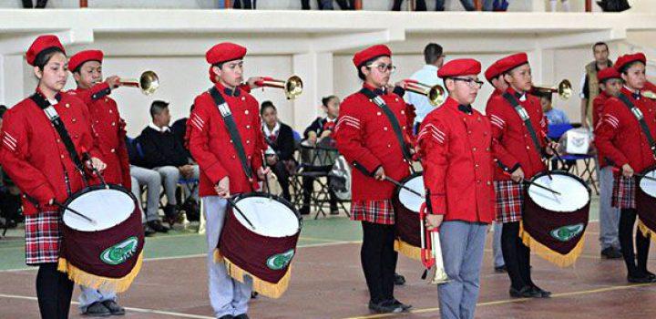 Chimalhuacán destaca en el Encuentro Estatal de Bandas de Guerra