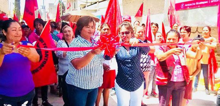 Inauguran calle en Ecatepec