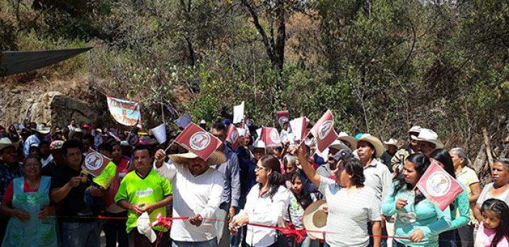 Más de medio millón de pesos invertidos en camino para cuernavasenses