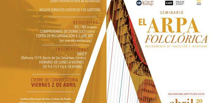 Puebla albergará el Primer Seminario de Arpa Folklórica