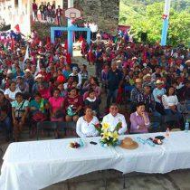 Inaugura Antorcha techado en comunidad indígena