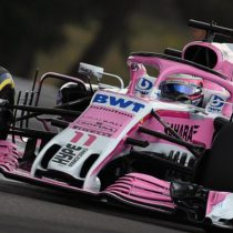 Checo celebra los 200 Grandes Premios del Sahara Force India