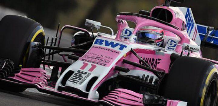 Checo celebra los 200 Grandes Premios del Sahara Force India
