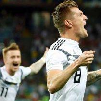 Golazo de último minuto dio triunfo a Alemania