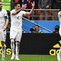Uruguay gana a Egipto de último minuto