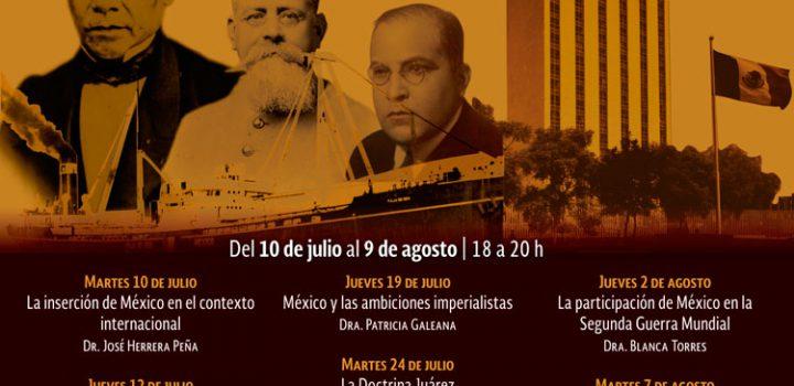 Analizará curso las relaciones exteriores de México durante los siglos XIX y XX