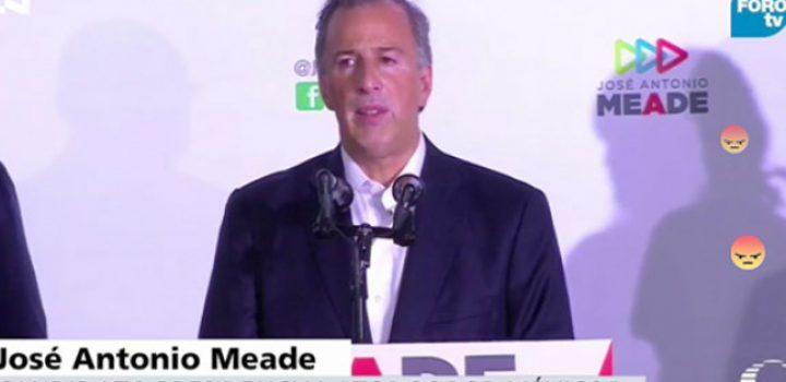 Acepta Meade derrota y triunfo de AMLO