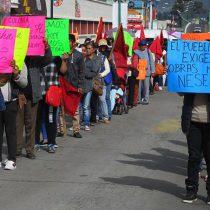 Marchan en Tlaxcala; exigen solución