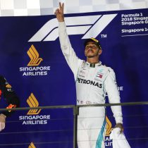 Lewis Hamilton conquistó el GP de Singapur