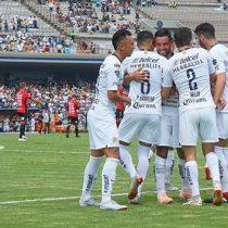 Se encaramó al subliderato general; Pumas goleó a Lobos BUAP 4-2