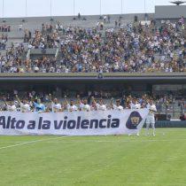 ¡Goya!.. ¡Goya!…  ¡Alto  a la violencia!, pidieron Pumas