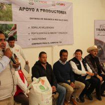 Entregan gobierno municipal de Trancoso y antorchismo, apoyo para el sector campesino