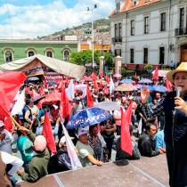 Yolanda Tellería: seis meses de plantón e indiferencia hacia hidalguenses