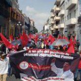 30 mil antorchistas exigen cárcel para los autores intelectuales del asesinato del expresidente de Huitzilan