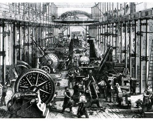 El obrero y la máquina