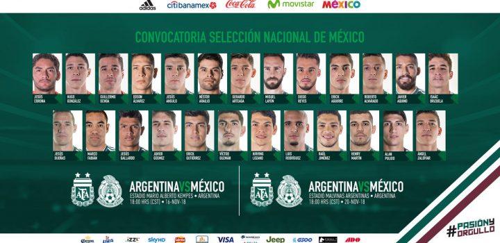 Caras nuevas del Tri para enfrentar a Argentina