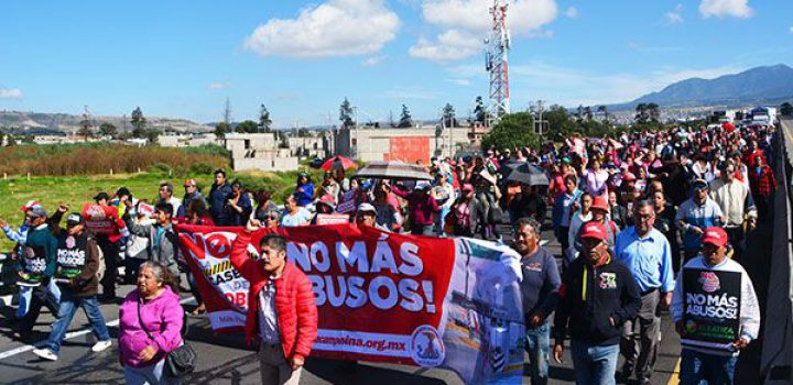 Realizan marcha en el Circuito exterior mexiquense