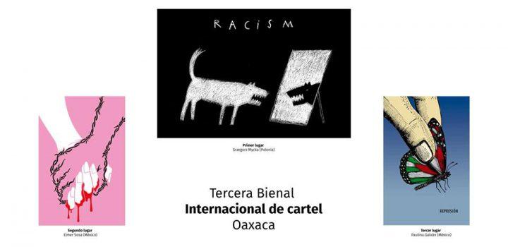 Bienal Internacional de Cartel Oaxacapresenta carteles entorno a la represión