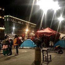 Arman comerciantes campal en el Zócalo