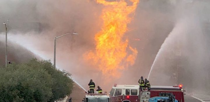 Explota tubería de gas en San Francisco