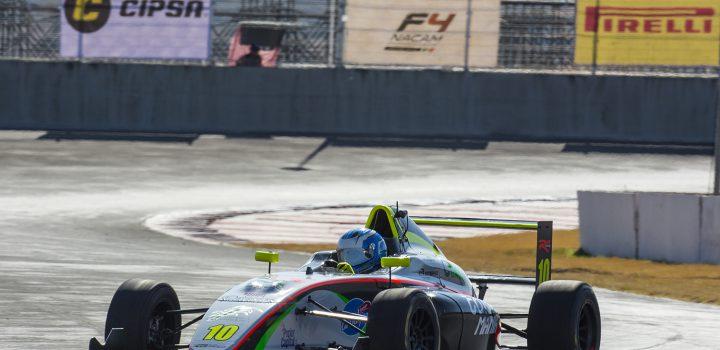 Jak Crowford de Martiga se impone durante carrera 2 de FIA Fórmula 4 Nacam GP Puebla