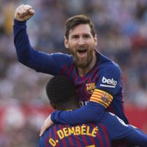 Messi da el triunfo al Barcelona 4-2 ante Sevilla