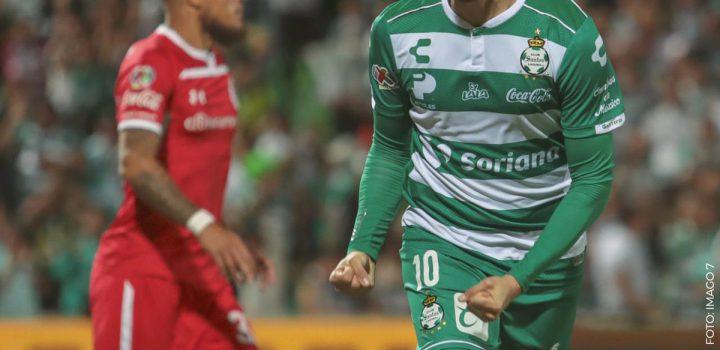 Santos golea 4-0 a Toluca, que le puede dar el adiós a Cristante