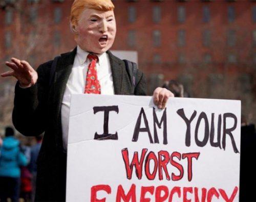 Protestan por declaración de emergencia de Trump en EU