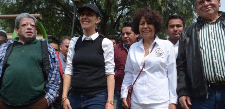"""Alcaldesa y Jefa de Gobierno realizan """"Sábado de Tequio"""""""