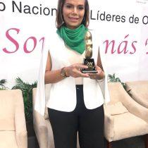 Premian a Diana Sánchez Barrios como mujer del año en XV Foro Nacional de Líderes de ONG's