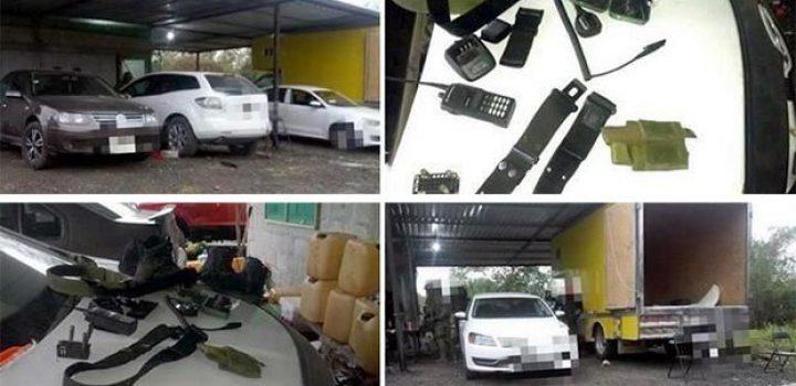 Aseguran vehículos y equipo táctico en Veracruz
