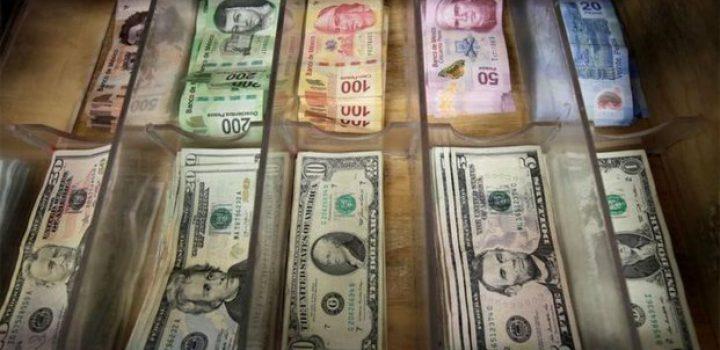 Peso cede ante dólar tras su mejor nivel en 5 meses