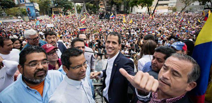 Guaidó regresó triunfante a Venezuela